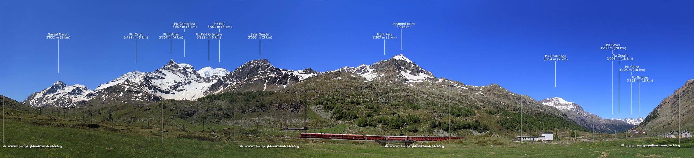 Bernina Pass Panorama