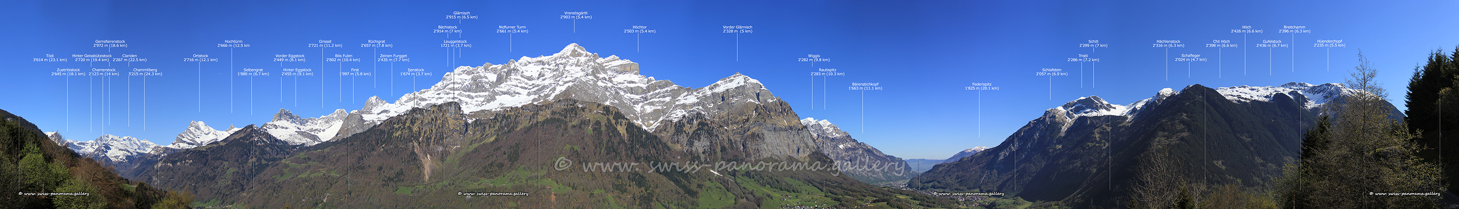 Switzerland panorama Schwander Turm
