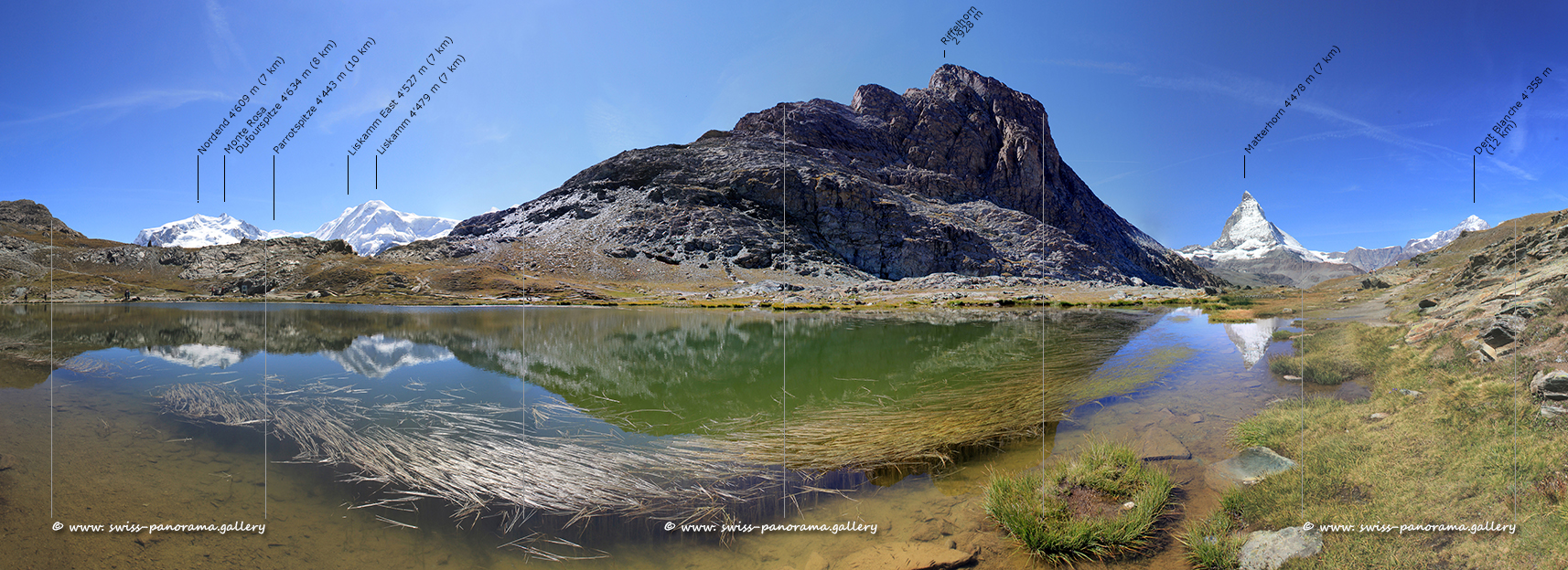 180 degree panorama  from Riffelsee.